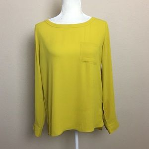 Loft Chartreuse Green Tunic Top